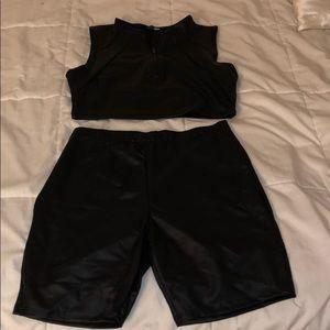 Black biker set